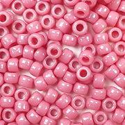 mauve pink 6 x 9mm plastic pony beads