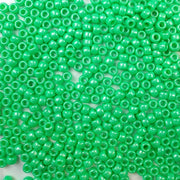 6 x 9mm plastic pony beads in light green pearl