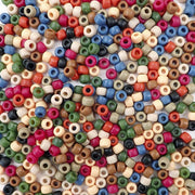 6 x 9mm Plastic Pony Beads in Americana colors
