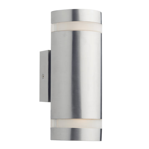 där Lighting WES2144 Wessex 2 Light Stainless Steel LED Outdoor Wall Light