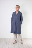 Two Danes Tiana Shirt Jacket - Navy Stripe