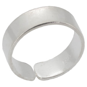 Sterling Silver  Plain Band Toe Ring