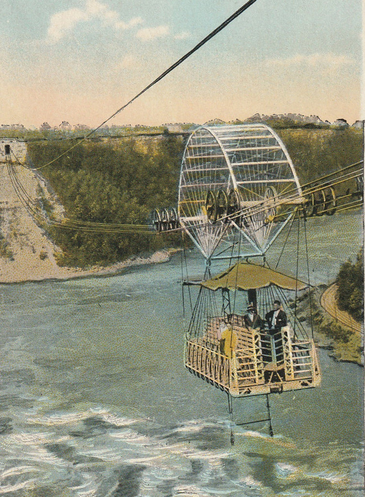 Aero Cable Niagra Falls Vintage Postcard Close Up