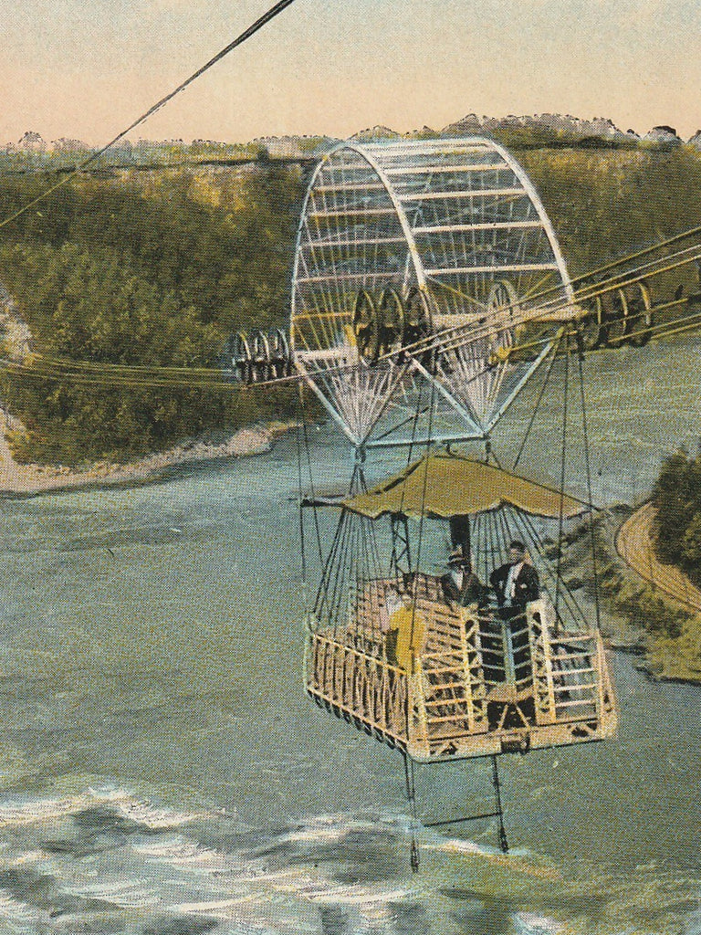 Aero Cable Niagra Falls Vintage Postcard Close Up 2