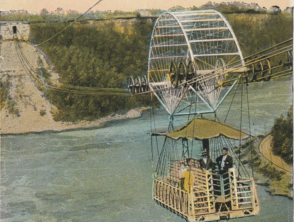 Aero Cable Niagra Falls Vintage Postcard Close Up 3