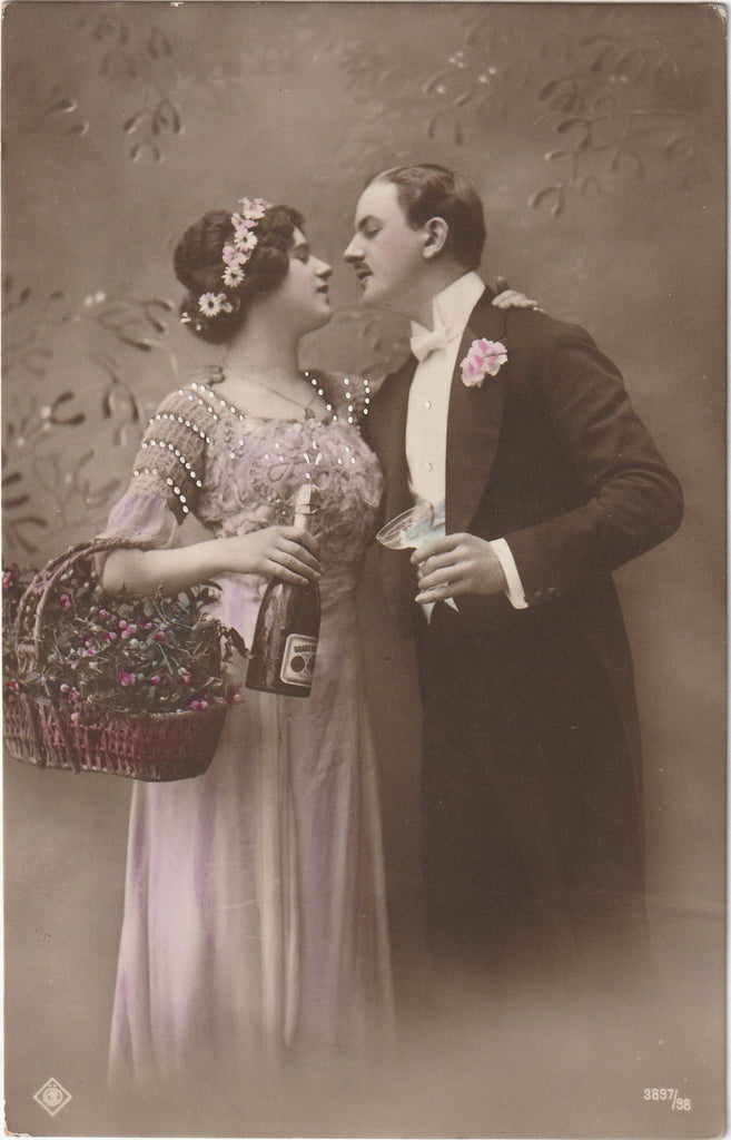 Cheers Darling Antique New Year RPPC