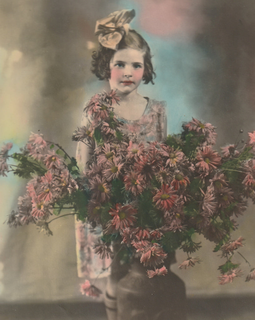 Daisies 1940s Hand Tinted Photo 8 x 10 Close Up 2