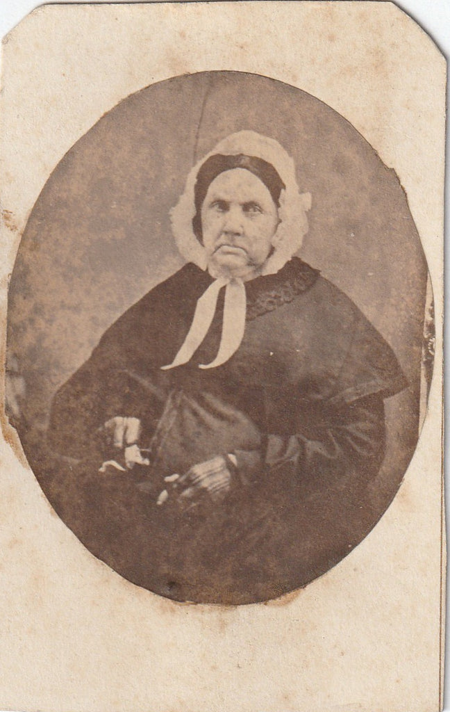 Grandmother Hurd Victorian Widow CDV Photo