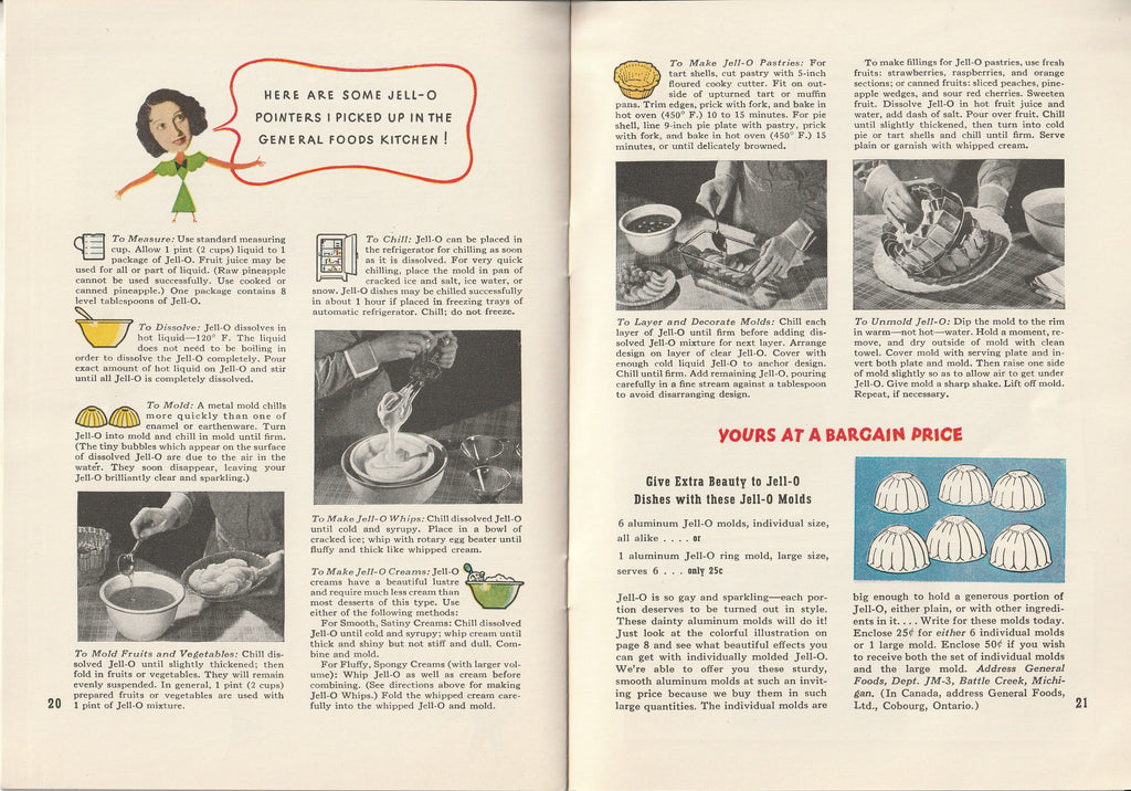 Jack & Mary's Jello-o Recipe Book Inside