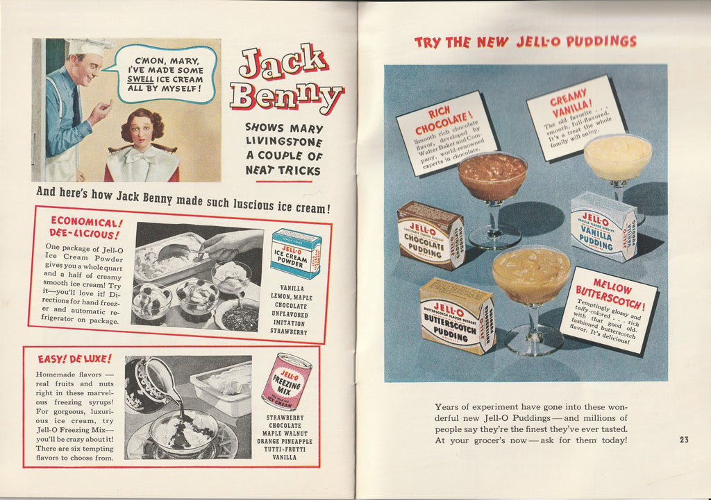 Jack & Mary's Jello-o Recipe Book Jack Benny