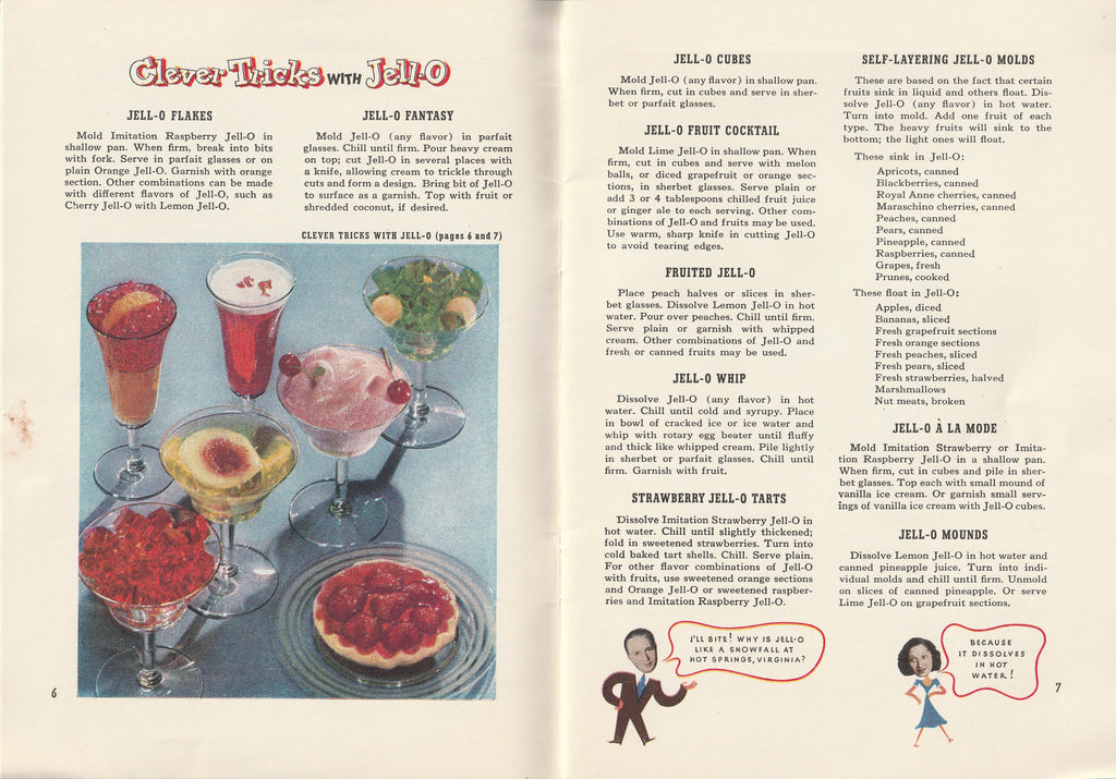 Jack & Mary's Jello-o Recipe Book Clever Tricks