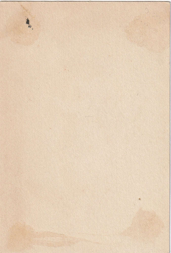 Lady Japan Antique Trade Card Back