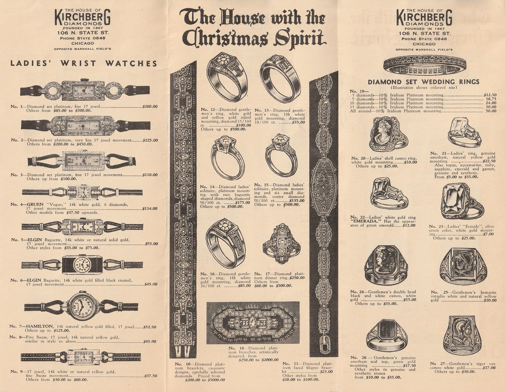 The House of Kirchberg Diamonds - Pamphlet, c. 1930s