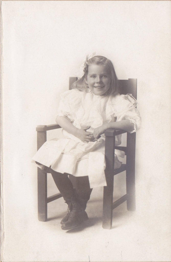 Marvelous Mildred- 1900s Antique Photograph- Edwardian Child- Identified Portrait- Beautiful Girl- Photo Folder