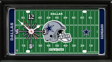 NFL Team Logo Football Field Licensed Plate Clock