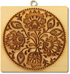 407_folklore_blumenmuster German Folk Art Flowers Springerle Cookie Mold Springerle Emporium