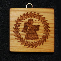Musical Angel with Lyre Springerle Cookie Mold Springerle Emporium