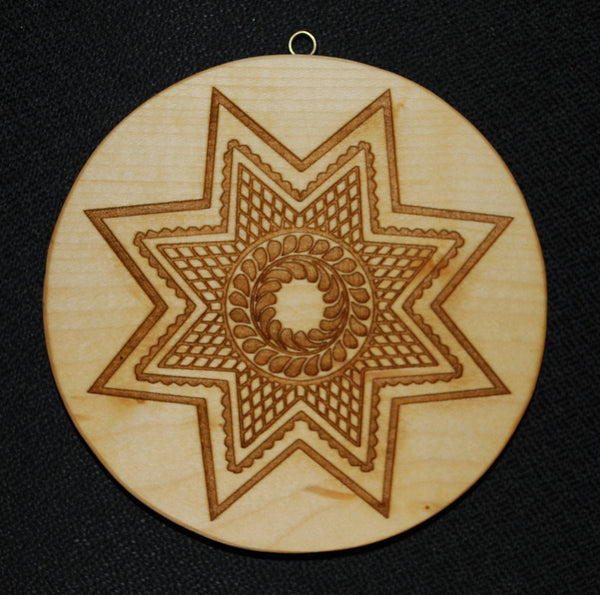 Large Diamond 8 Point Star Springerle Cookie Mold