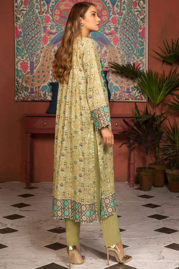 Single Shirt Lawn Embroidery 2.5 Meters 139133A - Unstitched - Warda Designer Collection