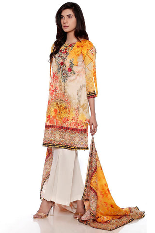 3PC Lawn Print Embroidery LS17132 - Pret - Warda Designer Collection