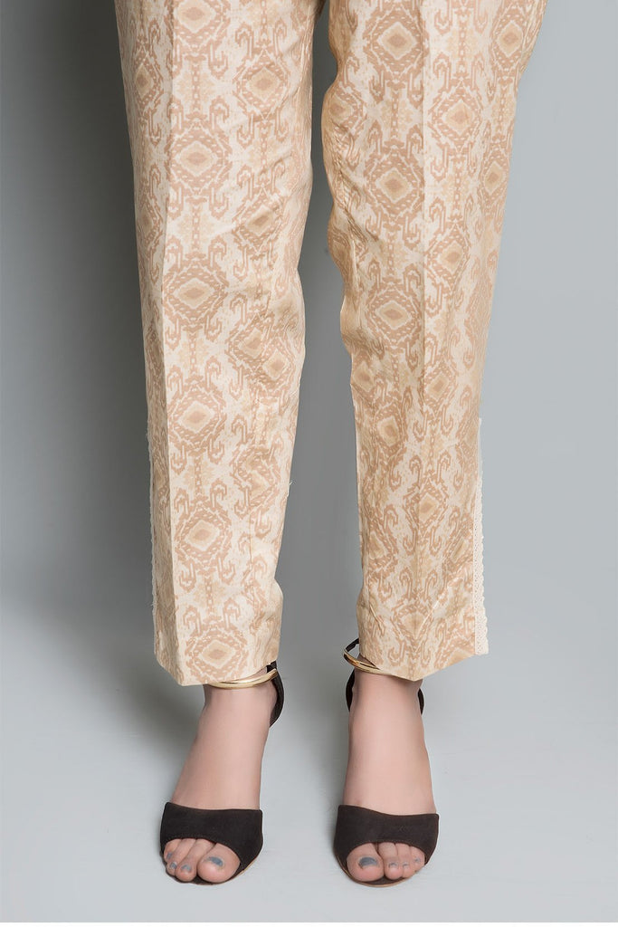 PRINTED TROUSER Printed LS19143 - Bottoms - Warda Designer Collection