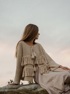 INDIAN SUMMER CO NOUVELLE CARDIGAN ALMOND