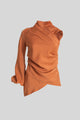 Clay One-Sleeve High Neck Blouse