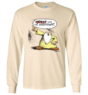 Mr. Natural Quest into the Unknown - Men's Long Sleeve T-Shirt