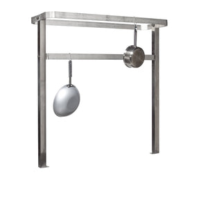 "Tarrison TPR48 Stainless Steel Table Mount Pot Rack with 8 Hooks, 48"" Length x 48"" Height x 16"" Depth"