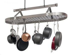 Enclume Premier 4-Foot Oval Ceiling Pot Rack, Stainless Steel