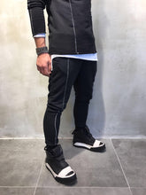 Load image into Gallery viewer, Black Jogger Pant SJ250 Streetwear Jogger Pants