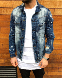 Denim Jacket B78 Streetwear Denim Jacket