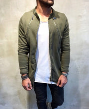 Load image into Gallery viewer, Khaki Asymetric Zipper Oversize Jacket SJ203 Streetwear Jacket