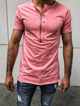 Load image into Gallery viewer, Pink Zipper Oversize T-Shirt OT18 Streetwear T-Shirts