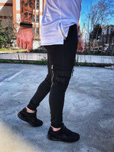 Load image into Gallery viewer, Black Side Pockets Jogger Pant DM3 Streetwear Jogger Pants