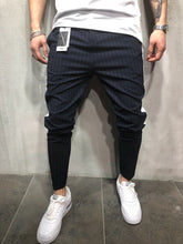 Load image into Gallery viewer, Navy Side Striped Casual Jogger Pant A112 Streetwear Jogger Pants
