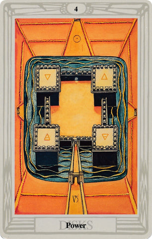 Aleister Crowley Thoth 4 of Pentacles Tarot Card