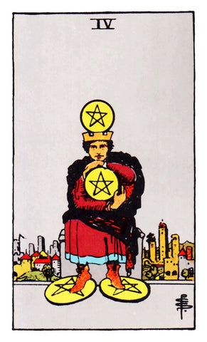 The 4 of Pentacles Tarot Card Rider Waite