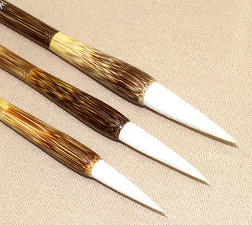 Sheep Jasper White Hair Calligraphy Brush