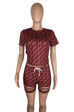 Fendi Fashion 2 Piece Short Set