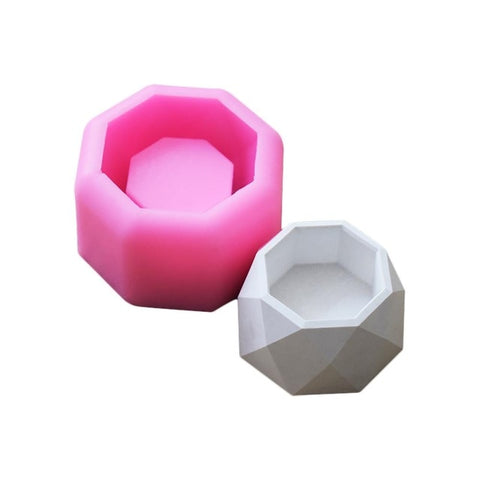 Creative Geometric Polygonal Concrete Flower Pot Vase Office Decoration DIY Clay Cementsilica Silicone Mold