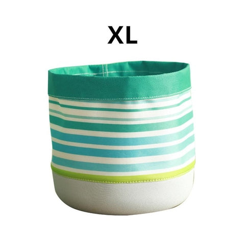 Home Innovative Succulent Plant Flower Pot Waterproof Fabric Planter Foldable Storage Barrel Basket