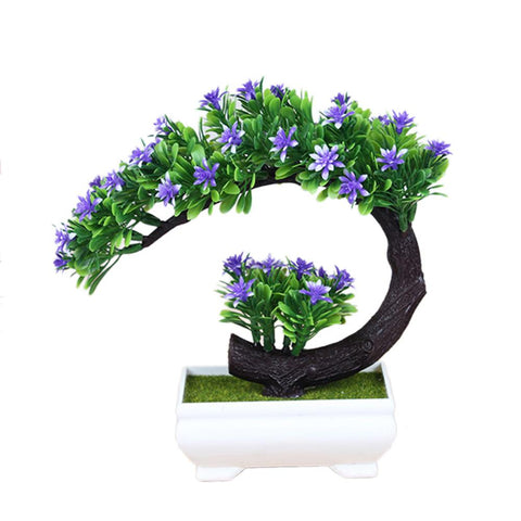 Innovative Simulated Flower Miniascape Artificial Plastic Green Plant Bonsai Ornament