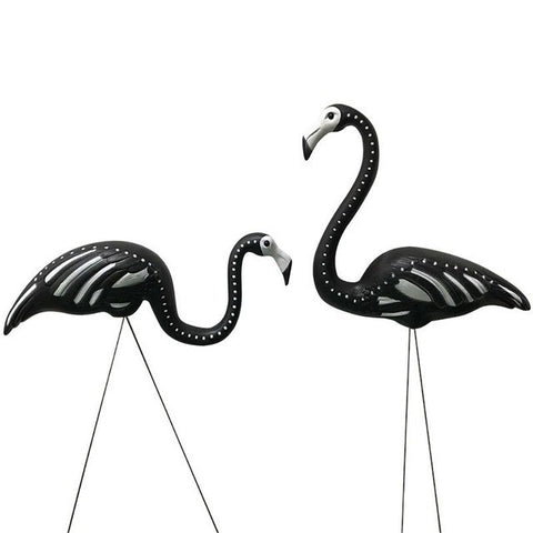 One Pair Flamingo Ornament Flamingo Figurines Beautiful Artificial Lawn Figurines Garden Simulation Animal Decoration