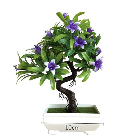 Simulation Petunia Plant Floral Potted Green Bonsai Decoration Small Bonsai Home Decor Table Top Ornaments