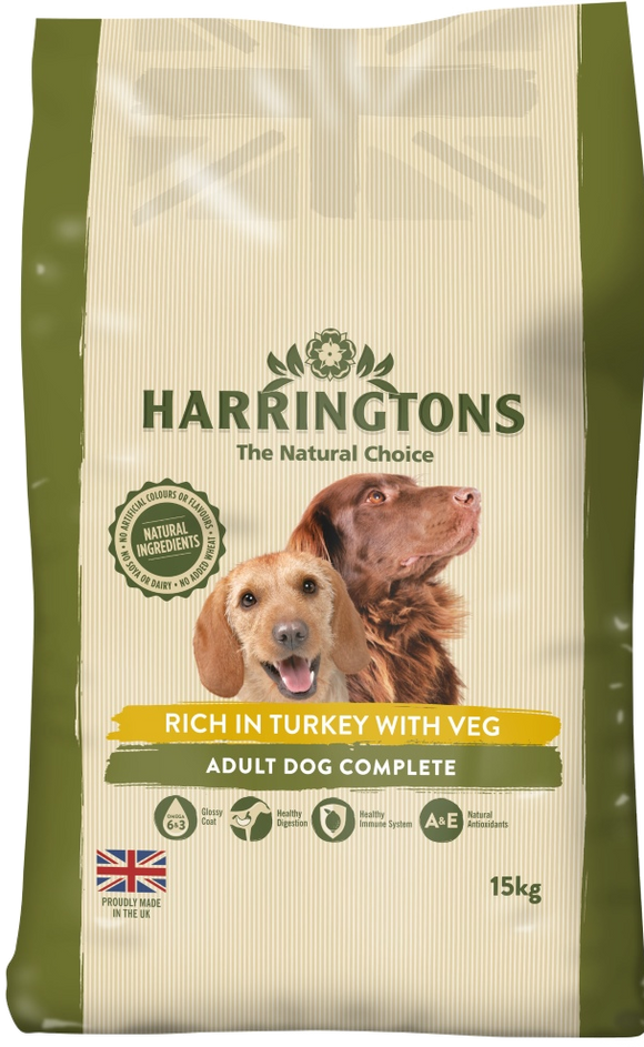 Harringtons Turkey & Veg Dog Food 15kg