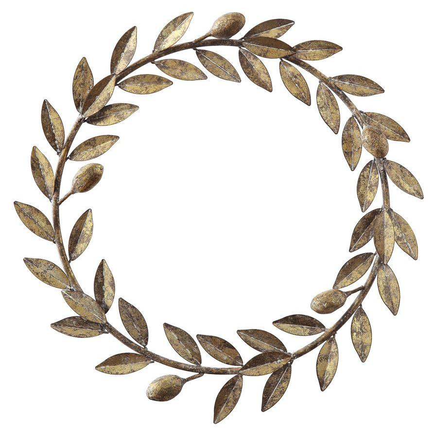 Antiqued Gold Metal Leaf Wreath-Decor-Creative-A Cottage in the City
