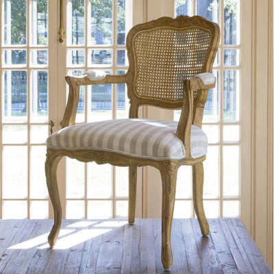 Country Oak & Cane Arm Chair Set of 2
