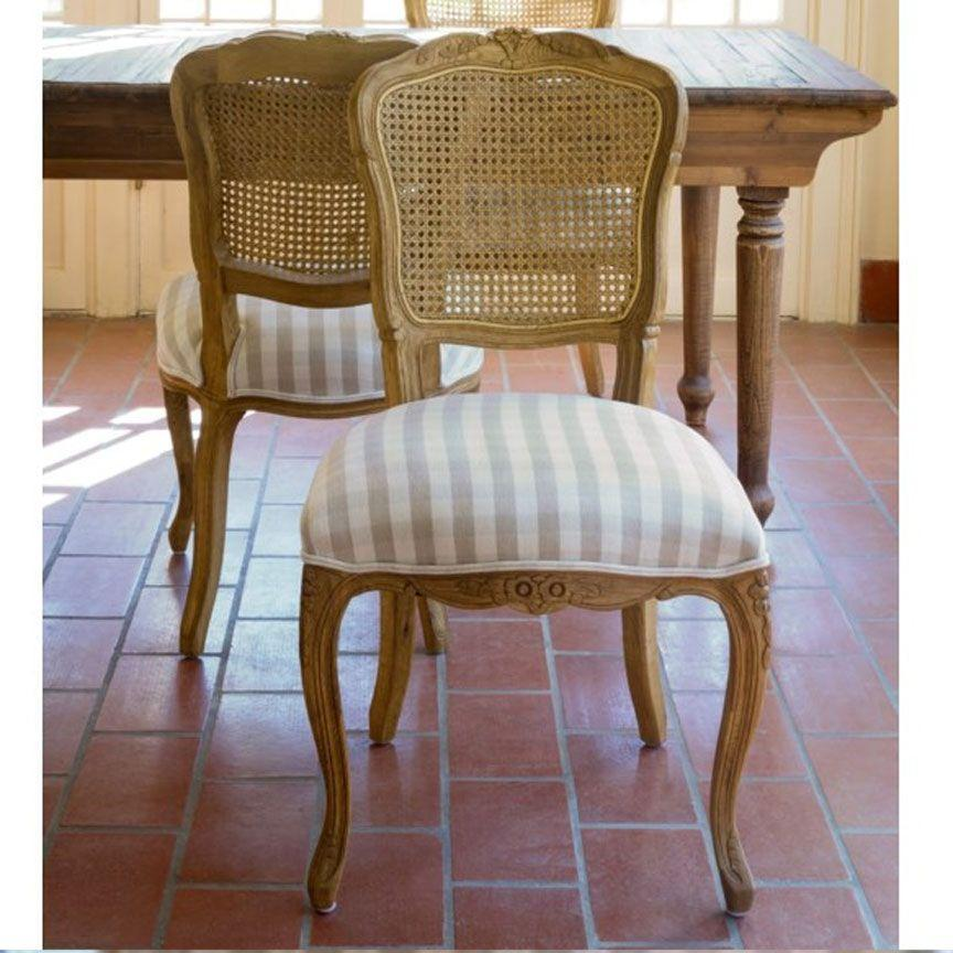 Country Oak & Cane Dining Chair Set of 2