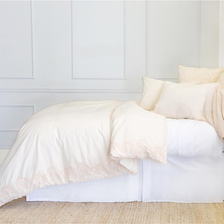 Grace Duvet Set by Pom Pom at Home-Bed & Bath-Pom Pom-Twin-White-A Cottage in the City